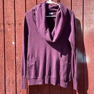 Splendid Plum Cowl Neck Pullover Sweater